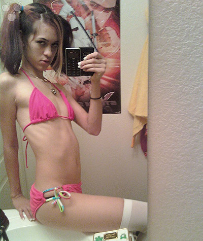 Skinny Self Shot Teen