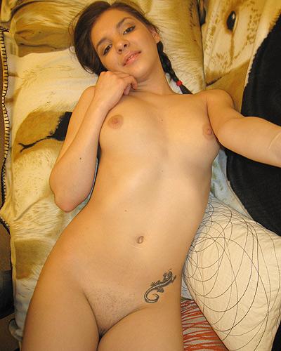 Full length self shot nude