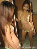 Stripping out of a micro bikini